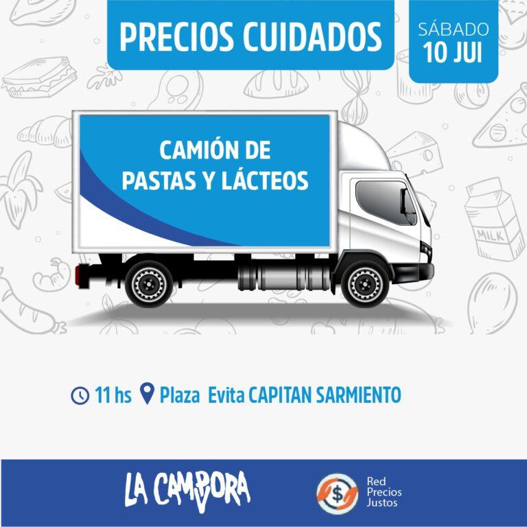 Este sábado regresa el camión de precios cuidados a Capitán Sarmiento