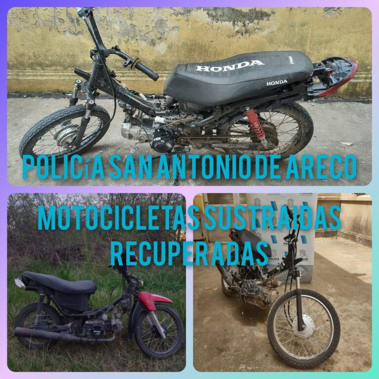 La policía de San Antonio de Areco recuperó motos robadas: participó del hecho un menor de 16 años